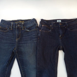 2 Pairs Boys Jeans Hudson Gap Kids 7 CL458 0219